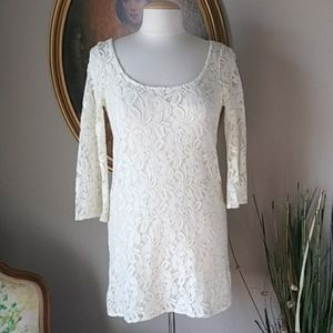 NWT American Eagle Outfitters Ivory Lace Dress S/P